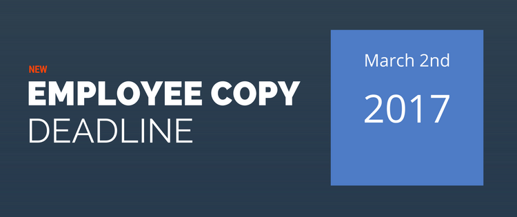 Employee Copy Deadline Extended for Tax Year 2016 ACA Reporting
