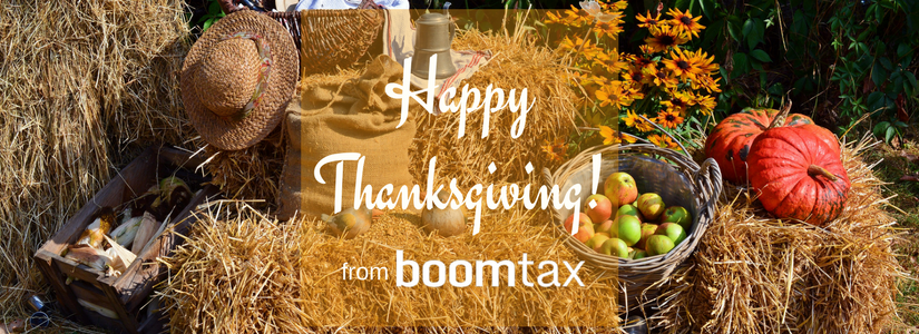 Happy Thanksgiving from BoomTax! – ACA Reporting & More