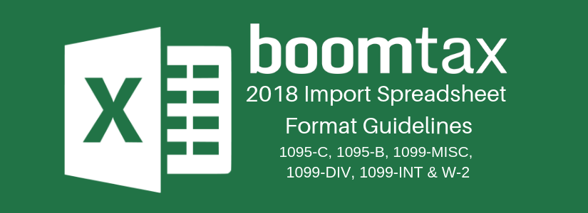 Import Spreadsheet Format Guidelines for Tax Year 2018